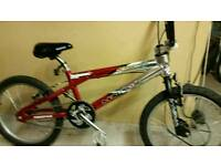 Red and silver bmx