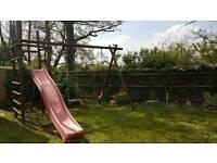 Swing and slide set
