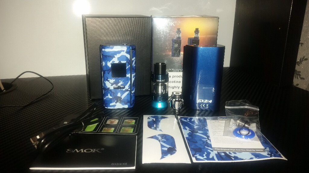 Smok GX2/4 & TFV8 Big Baby Beast Vape Kit (BLUE)