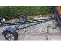 "motorbike trailer. strong built bike trailer, 13 "" wheels."