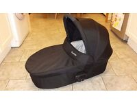 Baby Style, Oyster Carry Cot Black cover with Polka Dot colour pack - £50