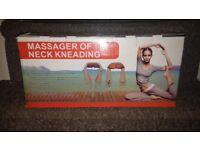 NEW. Shiatsu Massager with 8 Deep Kneading Rotating Shiatsu Massage Nodes.