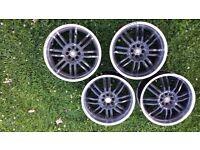 18 inch wolfrace alloy wheels
