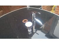 chrome basin taps