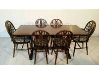 """JC"" Solid Wood Dining Table and 6 Chairs 001"