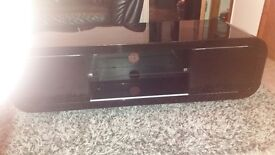 Black High Gloss Tv Unit good condition