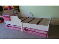 Hello Kitty Toddler Bed (slight damage)