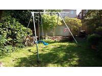 TP 131 Giant Double Swing Frame with trapeze and Skyride.