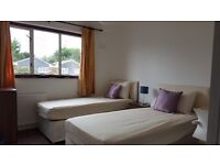 Newly renovated twin room furnished, bills, included, mins walk to Westfield/Oylimpic park