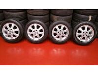 Vauxhall Genuine 15 alloy wheels + 4 x tyres 195 60 15