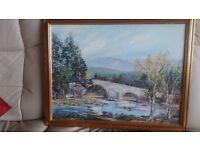 Bridge of Dee oil paintings by F C Kirk from both sides