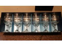 Dema silver Rose goblets x6
