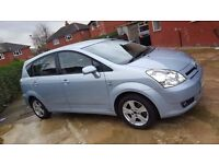 2005 TOYOTA COROLLA VERSO-1.8-T3(7-SEATER),TWO OWNERS,MOT OCT.2017,FULL VOSA HISTORY,ALLOY WHEELS