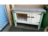 Handmade rabbit hutch