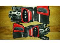 Frank Thomas leather motorcycle gloves