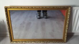 Ornate Gold Framed Wall Mirror