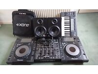 Pioneer CDJ 900 Nexus Pair + Allen & Heath Xone:DB4 Mixer + Mackie MR5 mk2 Active Monitors + More
