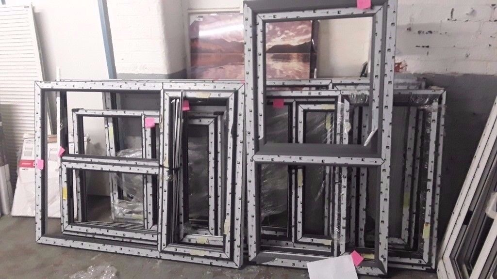 ASSORTED GREY UPVC WINDOW FRAMES ( NO GLASS JUST FRAME) | in ...
