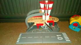 Wooden airport