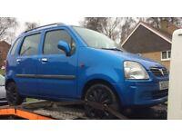 2002 Vauxhall Agila Club 16v Mpv 1.2L Petrol Blue BREAKING FOR SPARES