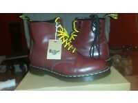 Dr Martin Cherry red boots. size 8/42 Brand Spankin New