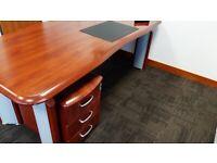 Executive walnut managers desk