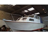 Cabin Cruiser 21ft Perkins 4107 Marine Diesel Engine