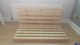 Wooden Futon Double Sofa Bed Frame. Collection only