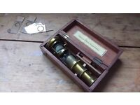 Victorian Microscope and slides