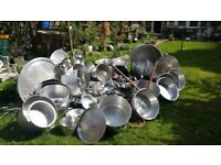 Commercial pots and pans ideal for weddings