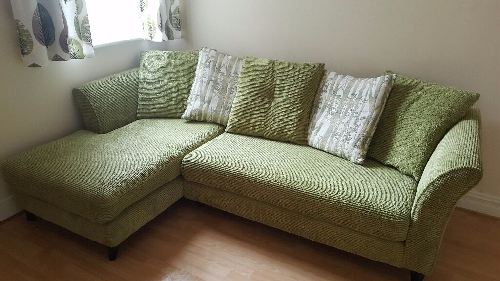 For Asap Collection Only Olive Green Corner Sofa And 2 Seater