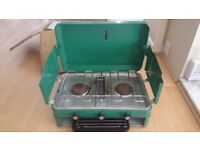 George Baker Camping Ltd Double Burner & Grill Stove - Priced to sell