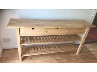 IKEA butchers block shelving