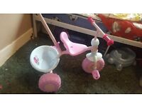 Girls toddler trike- new
