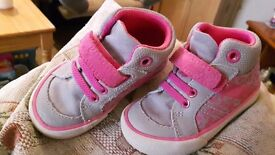 Baby/Toddler pink&grey trainers size4G