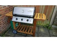 3 burner gas barbecue with gas bottle (good condition)