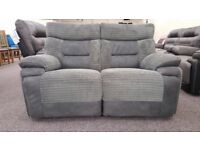 SCS Nelson Grey 2 Seater Manual Recliner sofa Free Delivery Nottingham Derby View Hucknall Nottm