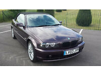 BMW 318 CI Auto Convertible 2003, 76k, MOT, 4 Keys, Service History, Leather Seats & HPI Clear £2595
