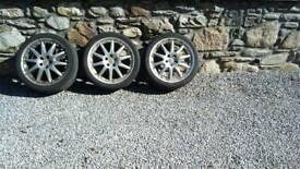3 x 18 inch alloy wheels for Ford Mondeo