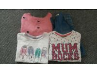 Next skirt and tshirts, plus jumper age 3-4