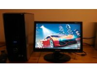 Dell XPS 420 Quad Core MINECRAFT Gaming Desktop Computer PC With Samung SyncMaster 21""