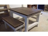 Farmhouse Rustic table and benches