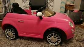 6v FIAT 500 Toddler Young Children Car Battery Operated Vehicle Pink