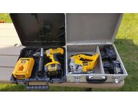 Dewalt 18V Jigsaw DC330 and Drill DC988 with 3 Batteries and Charger