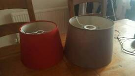 Red and brown light shades