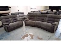 Ex Display SCS Curve Grey 4 Seater & 2 Seater Recliner sofas Can/Del View Collect Kirkby NG177