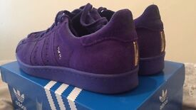 Rare Mens adidas 80s city pack purple suede size 9