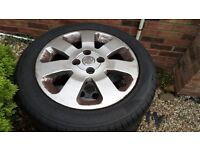 Vauxhall Corsa C Alloys plus two good tyres