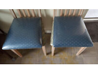 Brand New Pair of Upholstered Fabric Chair Seat Pads