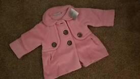 Next baby girl coat 6-9 months brand new